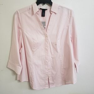 NWT LB Stretch Blouse Pink